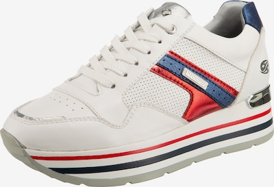Dockers by Gerli Sneaker in blau / rot / weiß, Produktansicht