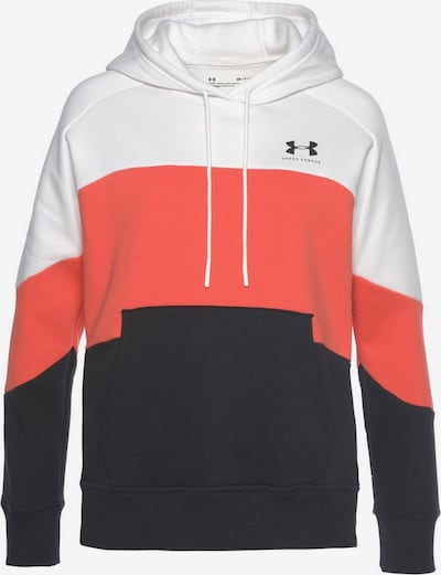 UNDER ARMOUR Sweatshirt 'Rival' in dunkelorange / schwarz / weiß, Produktansicht
