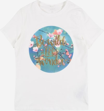 NAME IT T-Shirt 'Hali' in mischfarben / weiß, Produktansicht