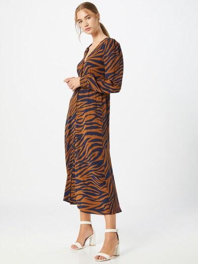 Gestuz Kleid 'Enise' in navy / cognac, Modelansicht