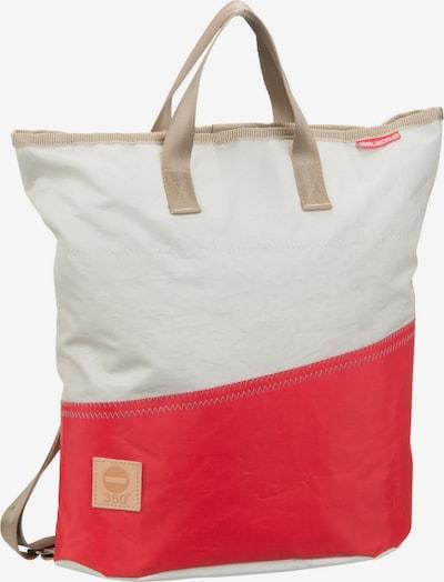 360 Grad Rucksack / Daypack ' Ketsch Mini ' in beige / rot, Produktansicht