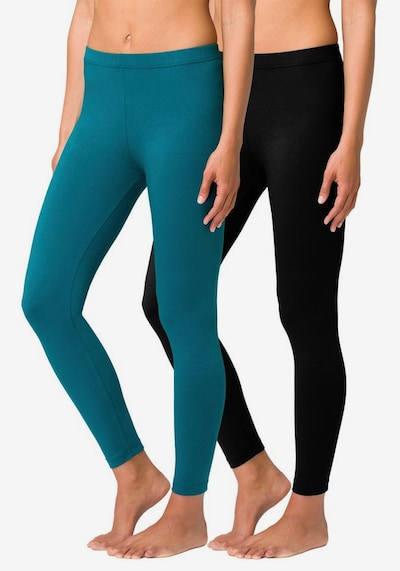 VIVANCE Leggings in hellblau / schwarz, Modelansicht