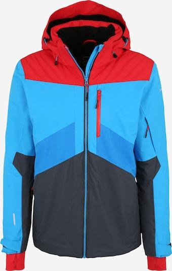 ICEPEAK Jacke 'Kris' in türkis / dunkelblau / rot, Produktansicht