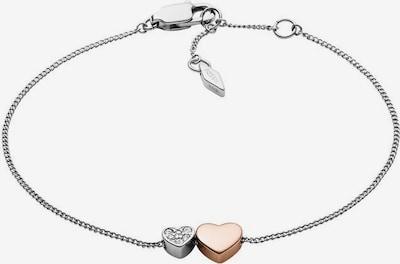 FOSSIL Armband 'Herzen' in rosegold / silber, Produktansicht