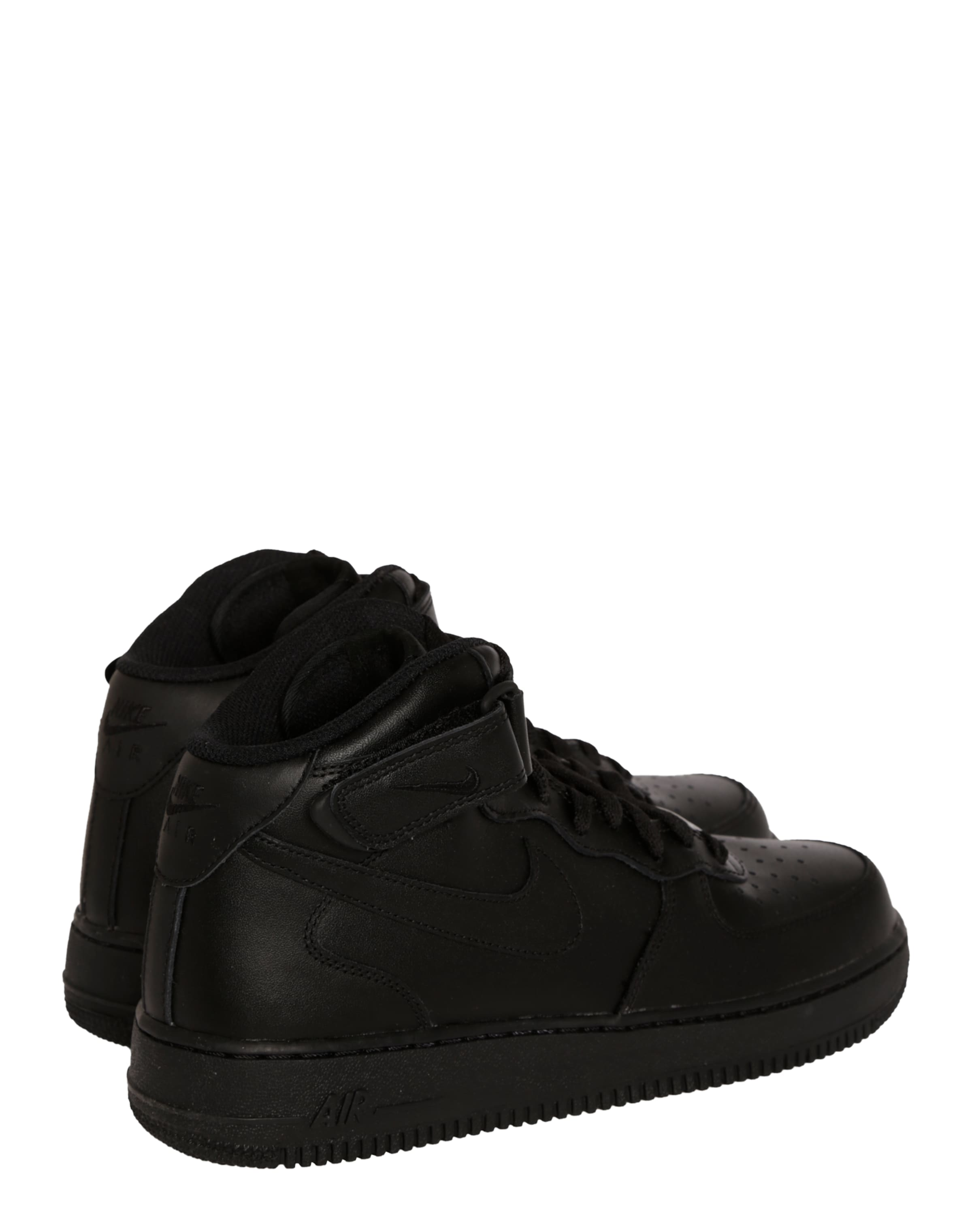 Force Sportswear Sneaker Mid' 'air Nike Schwarz In L4R5jA