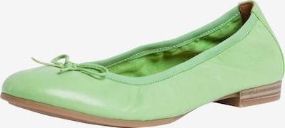 TAMARIS Ballerines en vert clair, Vue avec produit