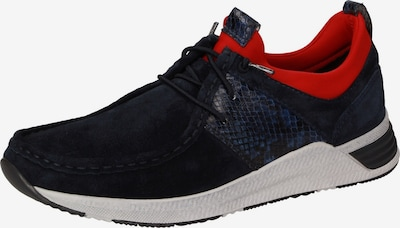 SIOUX Schnürschuh in dunkelblau / rot, Produktansicht