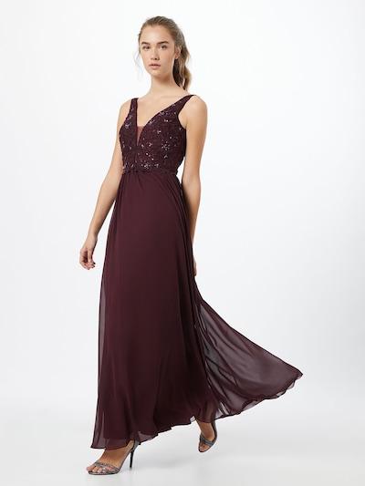 Unique Kleid in dunkellila, Modelansicht