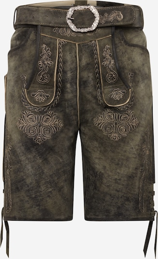 MARJO Hose '017 Tyson inkl. Gürtel' in dunkelgrün, Produktansicht