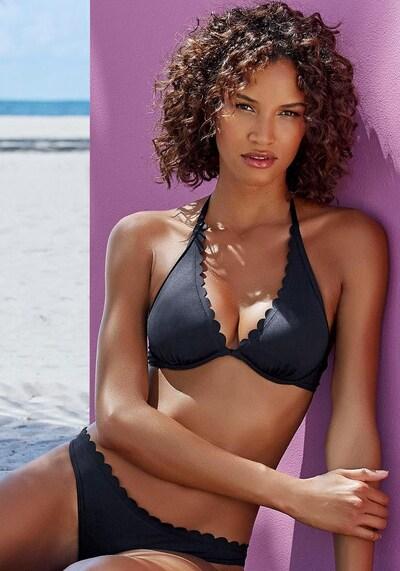 LASCANA Bikinitop 'Scallop' in schwarz, Modelansicht
