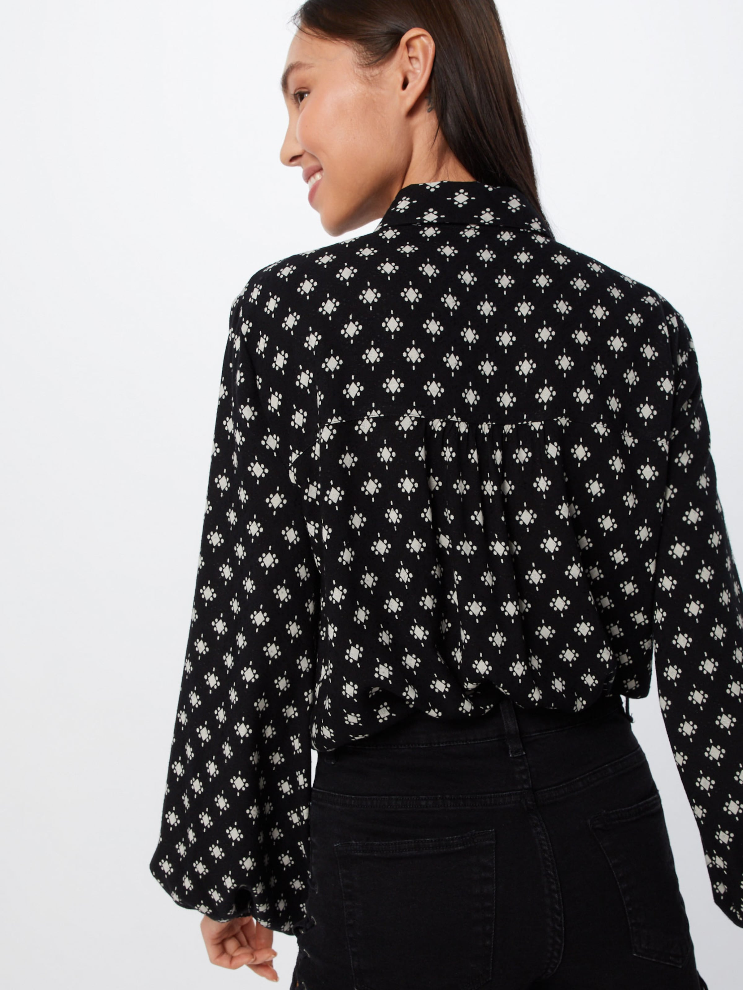 Free People Bluse In 'willow' Schwarz y6gfb7