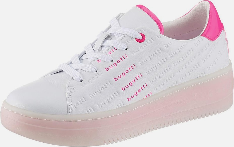 bugatti Sneakers laag 'Olivia' in de kleur Pink / Rosa / Wit, Productweergave