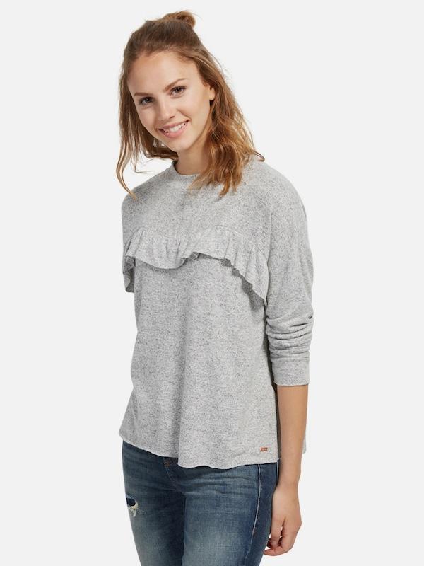TOM TAILOR DENIM Sweatshirt mit Rüschen-Aufsatz