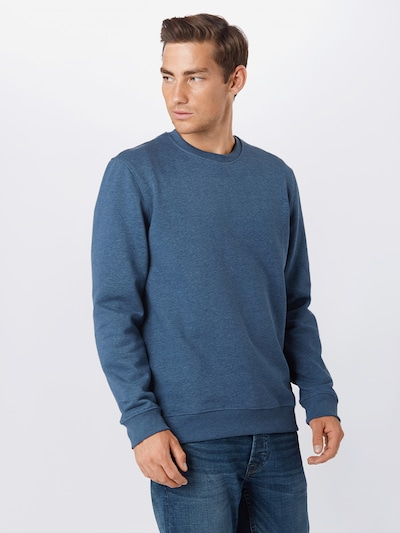 Only & Sons Sweatshirt 'Vincent' in blaumeliert: Frontalansicht