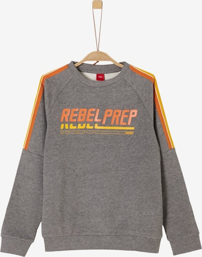 s.Oliver Sweatshirt in grau / orange: Frontalansicht