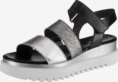GABOR Sandale in schwarz / silber, Produktansicht