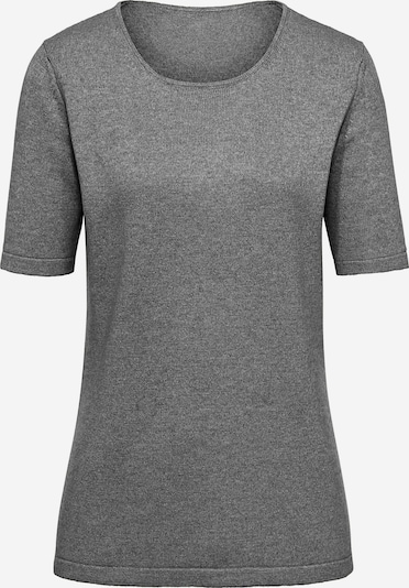 Peter Hahn Rundhals-Pullover aus Seide mit Kaschmir in grau, Produktansicht