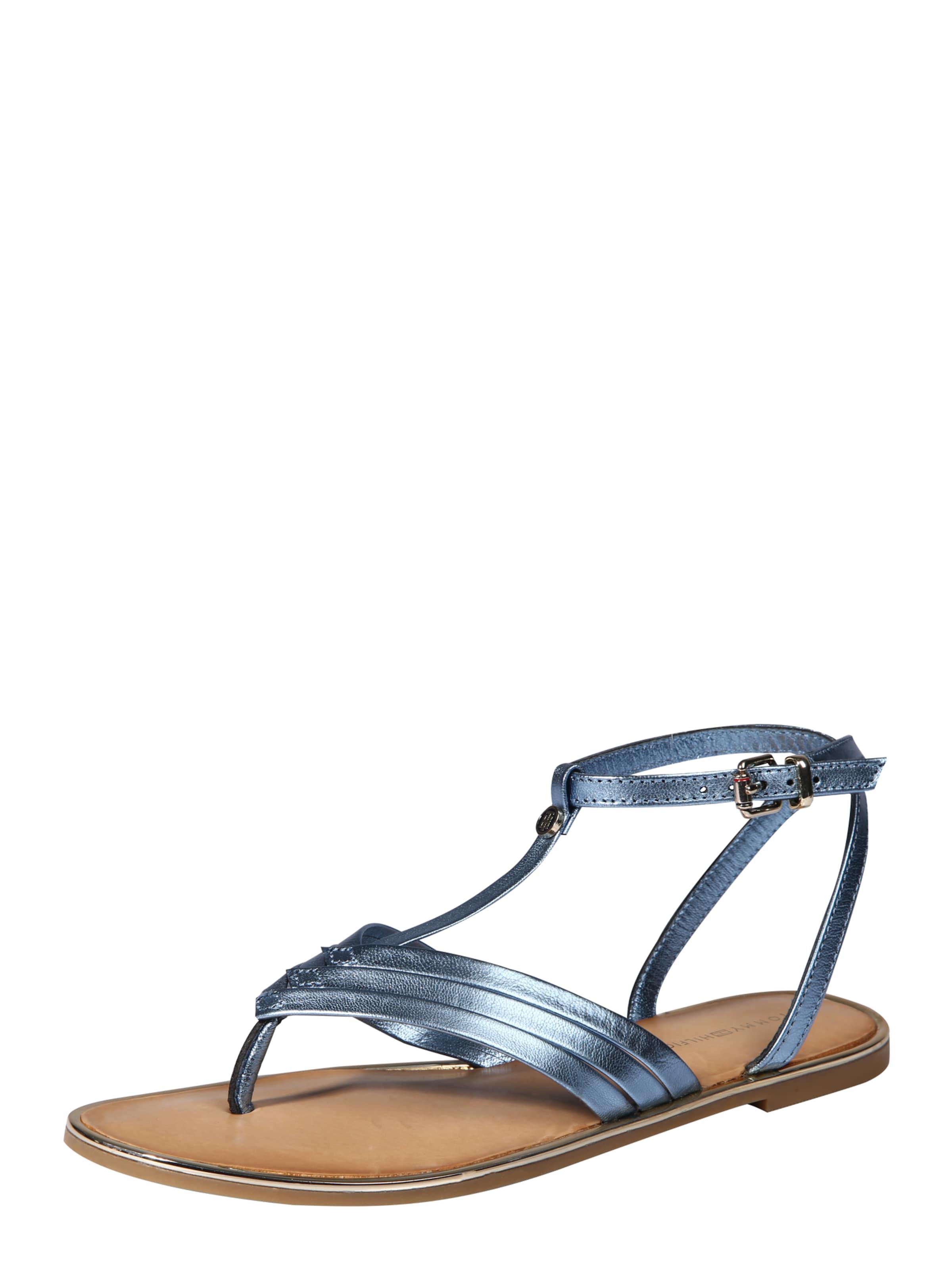TOMMY HILFIGER | Sandale mit T-Strap Schuhe Gut getragene Schuhe