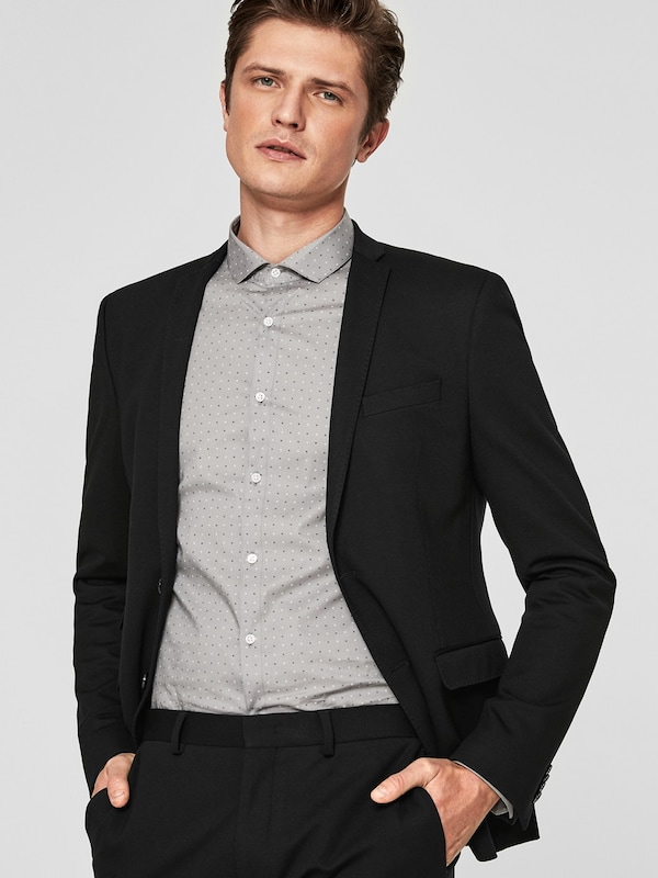 s.Oliver BLACK LABEL 'Fusion Suit Slim' Jersey-Sakko