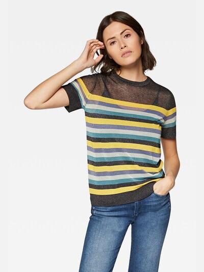 Mavi Pullover in gelb / anthrazit / petrol / weiß, Modelansicht