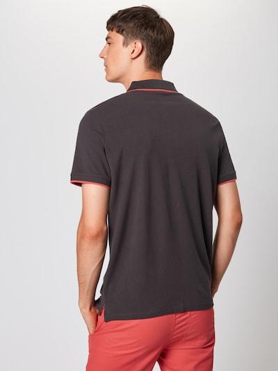 TOM TAILOR Poloshirt in aqua / schlammfarben / koralle: Rückansicht
