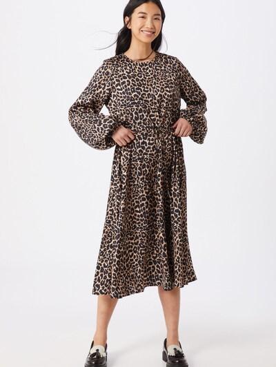Crās Kleid 'Lanicras' in braun / schwarz, Modelansicht