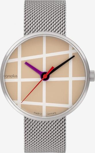 WALTER GROPIUS Uhr in camel / fuchsia / silber / weiß, Produktansicht