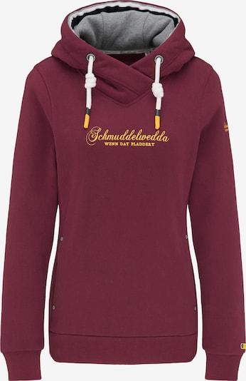 Schmuddelwedda Sweatshirt in gelb / weinrot, Produktansicht