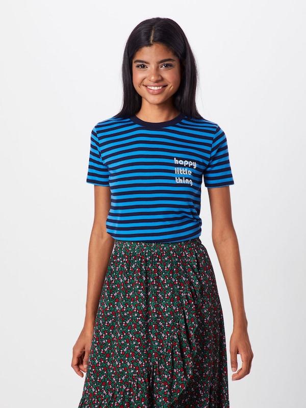 shirt 'oui Mbym Contrast' BleuNoir T En N8n0kwOXP