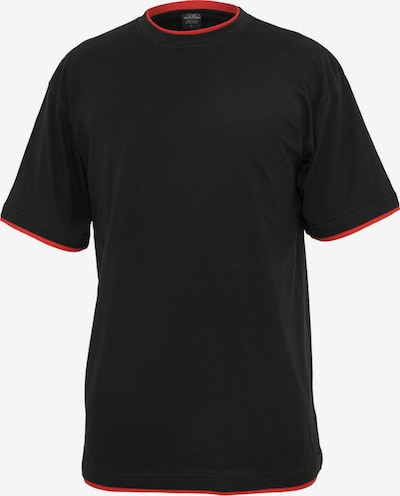 Urban Classics T-Shirt en rouge / noir, Vue avec produit