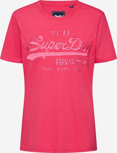 Superdry Shirt 'VL TONAL EMBROIDERY ENTRY TEE' in pink, Produktansicht