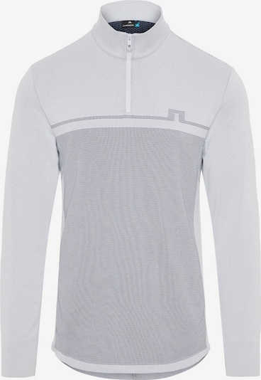 J.Lindeberg Golf  Shirt  'Jo Quarter Zip' in grau, Produktansicht
