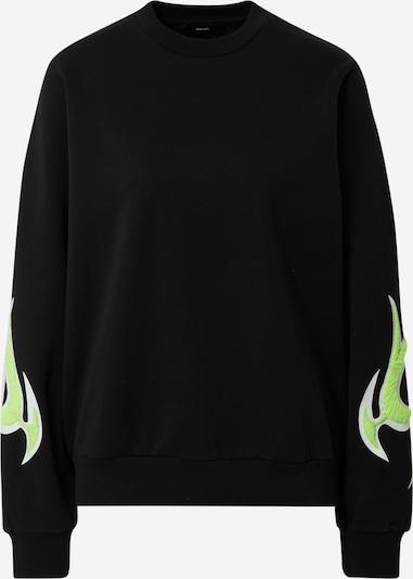 DIESEL Sweatshirt in de kleur Neongroen / Zwart / Wit, Productweergave
