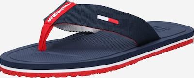 Tommy Jeans Japanke u tamno plava / svijetlocrvena / bijela, Pregled proizvoda