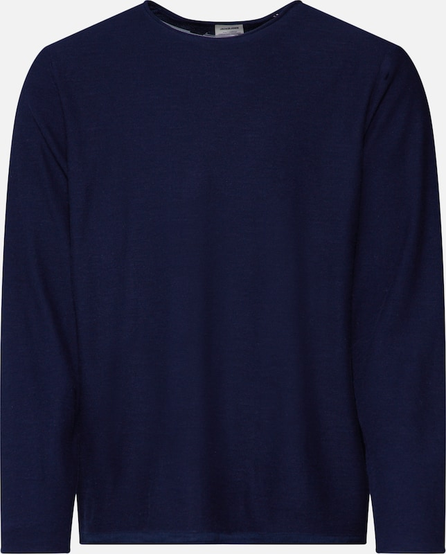 JACK & JONES Pullover 'Slub' in navy, Produktansicht