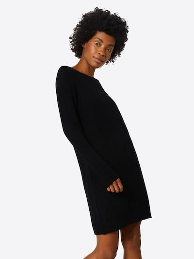Megzta suknelė iš VILA , spalva - juoda, Modelio vaizdas