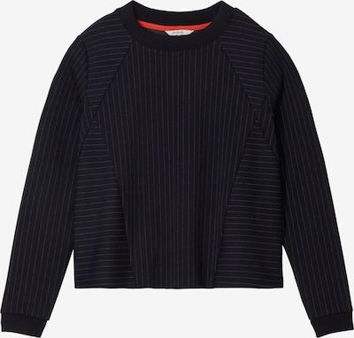 Sandwich Sweatshirt in dunkelblau / weiß, Produktansicht