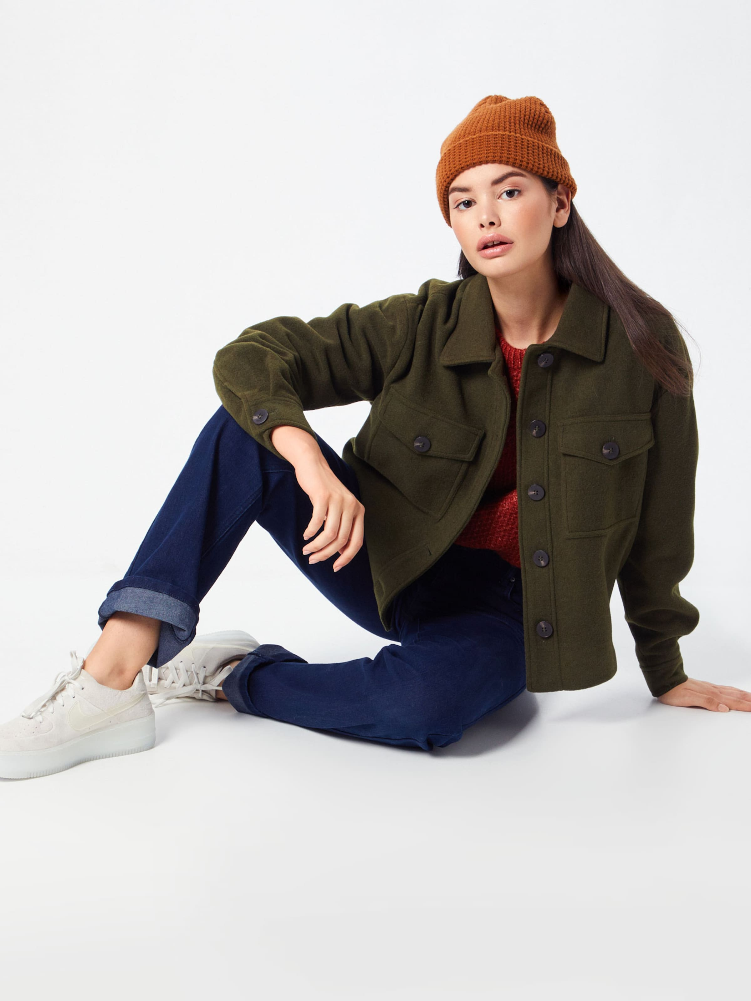 Vila En Olive Wool saison Mi 'virumble Short Veste Jacket' oQrxCBedW