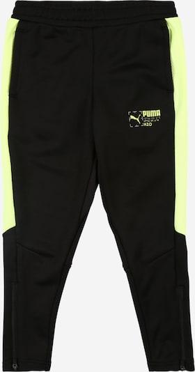 PUMA Pantalon de sport 'Poly' en jaune fluo / noir, Vue avec produit