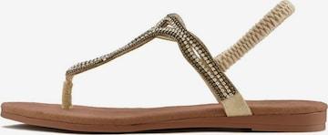 LASCANA Sandale in Beige
