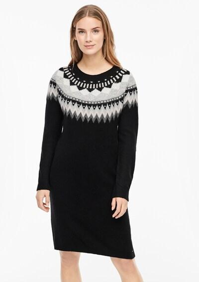s.Oliver Kleid in grau / dunkelgrau / schwarz / weiß, Modelansicht