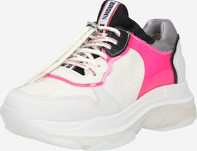 BRONX Baskets basses 'BAISLEY' en rose / noir / blanc: Vue de face