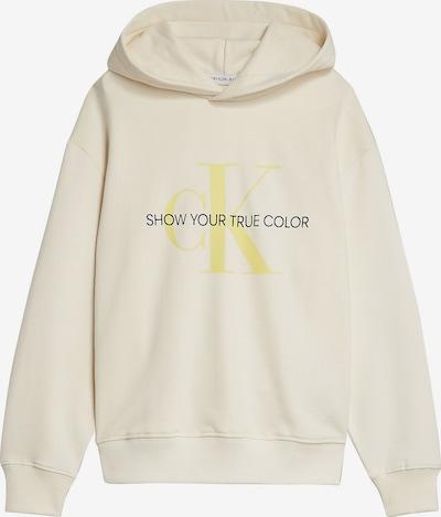 Calvin Klein Jeans Hoodie 'Natural Dye' in creme / gelb, Produktansicht
