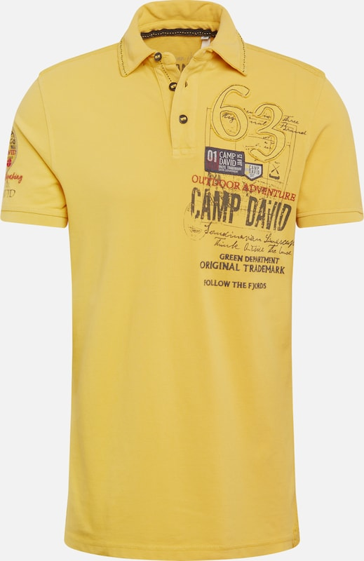 CAMP DAVID Tričko - žlté, Produkt