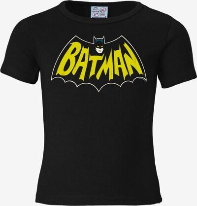 LOGOSHIRT T-Shirt 'Batman - Fledermaus' in gelb / schwarz, Produktansicht