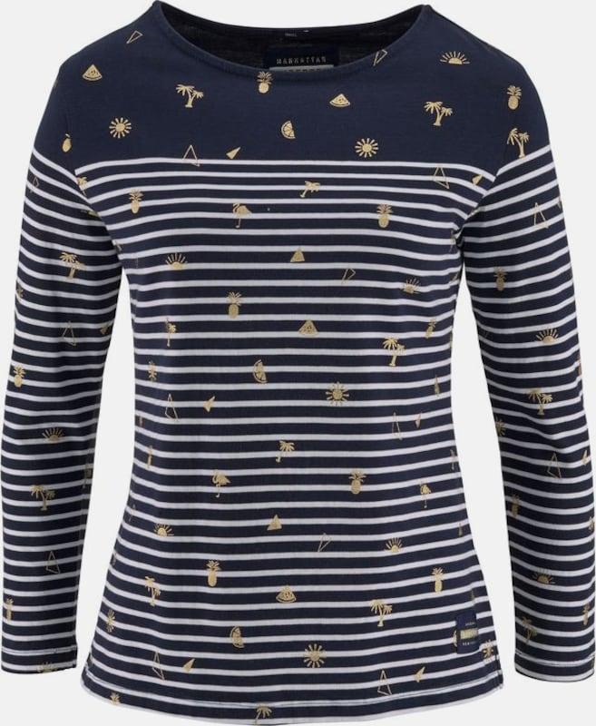 Superdry 3/4-Arm-Shirt 'CONVERSATIONAL BRETTON TOP'