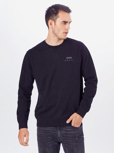 EDWIN Sweatshirt 'Base Crew' in schwarz: Frontalansicht