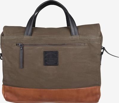 Presly & Sun Laptoptasche 'Diel' in cognac / khaki / schwarz, Produktansicht