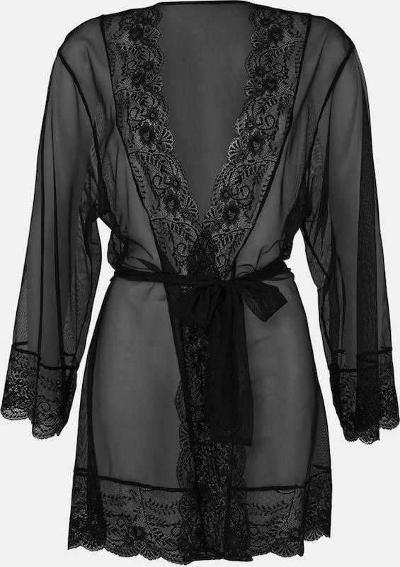 LASCANA Kimono mit edler edler edler Spitze in schwarz  Markenkleidung für Männer und Frauen 717c79