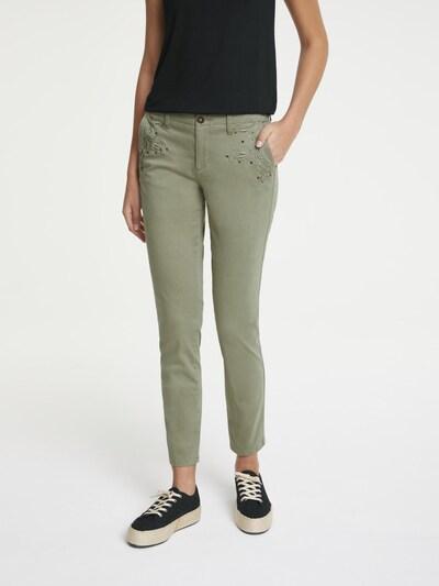 heine Chino in grün, Modelansicht